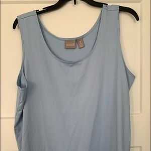 Chico's dusty blue tank tip stretchy